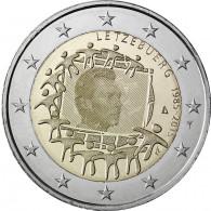Euorpa Flagge Euro Münzen Luxemburg