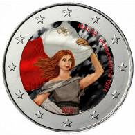 2 Euro Münze Farbe Malta 2014 50 J. Unabhängigkeit