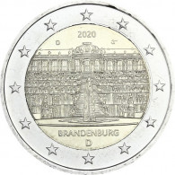 Gedenkmünzen 2 Euro 2020 Deutschland Brandenburg Schloss Sanssouci