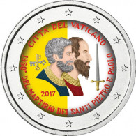 2 Euro Sondermünze Vatikan  Sankt Peter und Sankt Paul in Farbe  2017
