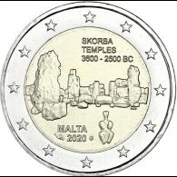 Malta-2-Euro-2020-Tempel-von-Skorba-mzz-Füllhorn-I