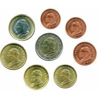 Vatikan 1 Cent - 2 Euro Johannes Paul II. gemischte Jahrgänge