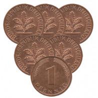 BRD 1 Pfennig 2001  Mzz.: A-D-F-G-J