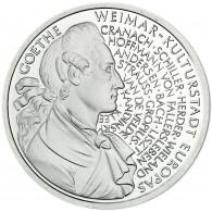 Deutschland 10 DM Silber 1999 Stgl. Johann Wolfgang von Goethe und Weimar