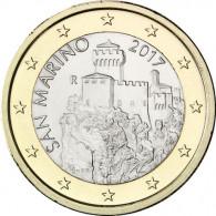 San Marino 1 Euro-Kursmünze 2017  2. Turm - La Cesta - Neues Motiv