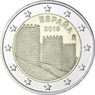 2 Euro Münze Spanien 2019 Altstadt Avila und Kirchen