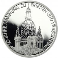 Deutschland 10 DM Silber 1995 PP Zum Wiederaufbau der Frauenkirche in Dresden