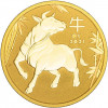 Goldmünze-Australien-100-Dollar-2021-Ochse-1oz-Gold-I