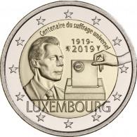 Luxemburg 2 Euro Sondermünze 2019 100 J. Allgemeines Wahlrecht bestellen