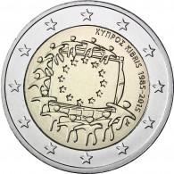 2 Euro Münzen Europa Flagge Zypern