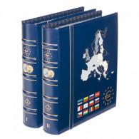 341042 - VISTA Euro Münzen -Münzalbum Band 1 & Band 2 Zubehör für Kursmuenzen