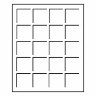 Zubehoer 327219 -  Muenzenbox LIGNUM 20 Fächer bis 48 mm