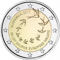 Sondermünze aus Slowenien 2017 Einfühurng des Euro