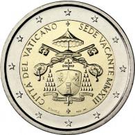 Vatikan Gedenkmünzen 2 € Sede Vacante - Sedisvakanz Kursmünzen Münzkatalog kaufen