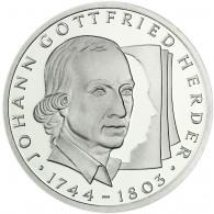 Deutschland 10 DM Silber 1994 Stgl. 250. Geburtstag von Johann Gottfried Herder