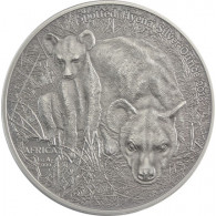 Silbermünzen Tüpfel-Hyäne Antique Finish Silbermünze 1 oz AG
