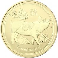 Lunar II Goldmünze Schwein 2019 - 1 Unze Australien 1 Oz
