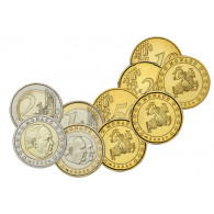 Monaco 10 Cent - 2 Euro 2002 stgl. Rartitäten Kursmuenzen