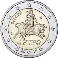 Griechenland 2 Euro 2016  stgl  Europa auf dem Stier