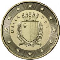 Malta 20 Cent 2012 bfr. Staatswappen Malta
