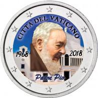 2 Euro Farbmünzen Vatikan 2018 Padre Pio bestellen
