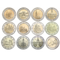 BRD 2 Euro Gedenkmünzen Wahrzeichen Bundesländer Komplett Angeobt Mzz. A - J