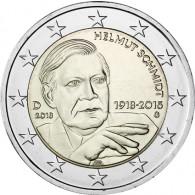 Deutschland 2 Euro 2018 Helmut Schmidt  Mzz. G