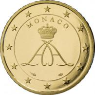 Monaco 50 Cent 2006  PP - Monacos erste Euro-Kursmünzen Fürst Albert II