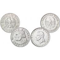 Reichsmark - Set: J.352 Luther und J.358 Schiller