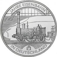 0 Euro Silbermünze 2010 - 175 Jahre Deutsche Eisenbahn