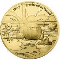 Frankreich 50 Euro 2018 1/4 oz Gold  PP Transall