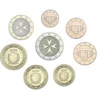 Malta 2019 Kursmünzen 1 Cent bis 2 Euro 2019 lose mit Mzz. 'F'