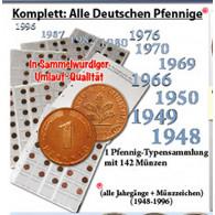 BRD 1 Pfennig 1948 bis 1996 komplett