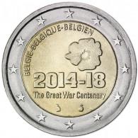 Belgien 2 Euro 2014 bfr.Beginn des 1. Weltkrieges