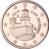 San Marino 5 Cent 2016 bfr. Festungsturm La Guaita