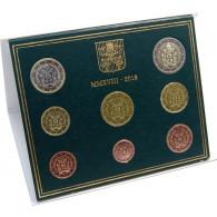 Vatikan Kursmünzen 2018 (3,88 Euro ) mit Papst-Wappen Franziskus im Folder