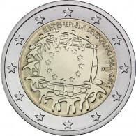 Deutschland 2 Euro 2015 bfr. 30 Jahre Europa Flagge Mzz. D