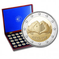2 Euro Sondermünze Liebe aus Malta 2016 und Münzkassette