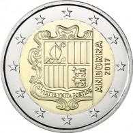 2 Euro Münze aus Andorra 2017 Staatswappen