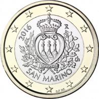San Marino 1 Euro 2016 bfr. Staatswappen