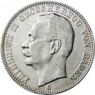 J. 39 Baden   3 Mark  Friedrich II  1908 bis1914  SONDERPREIS