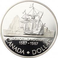 Kanada 1  Gedenk Dollar 1987 Silber  PP John Davis