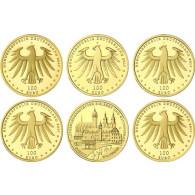 Deutschland 100 Euro Gold 2017 Luthergedenkstätten Komplettsatz