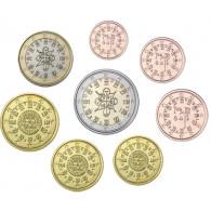 Portugal 1 Cent bis 2 Euro 2005 bfr. lose im Münzstreifen