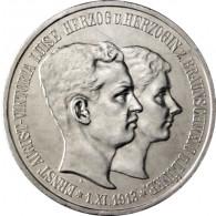 J.57 - 3 Mark  Regierungsantritt und Hochzeit mit Victoria Luise  1915