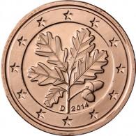 Euro Cent Kursmünzen Deutschland Jahrgang 2014 Stempelglanz