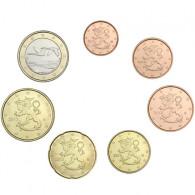 Finnland  1,88 Euro 2013 bfr. 1 Cent -1 Euro (7 Münzen) lose