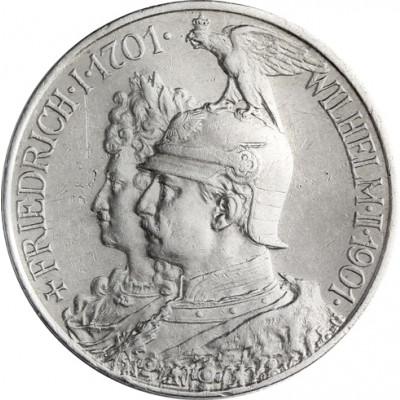 J.105 2 Mark Silber Königreich Preußen 200 Jahre Königreich