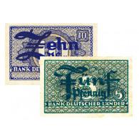 Banknoten - 5 Pfennig und 10 Pfenning ohne Datum von 1948