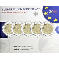2 Euro-Gedenkmünzen 2019 Deutschland Fall der Mauer im Folder bestellen Ankauf von Münzen